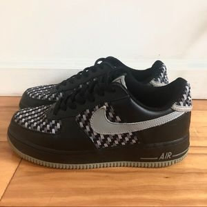 Black grey Air Force 1 special edition woven Nike